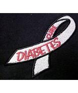 Diabetes November Awareness Ribbon Black Hoodie Sweatshirt Large Unisex New - $35.61