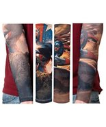 Captain America Nylon Tattoo Sleeves Officially Licensed Brand New Marve... - $7.99