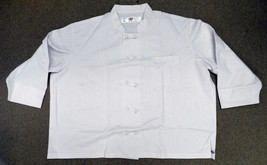 Dickies Restaurant Cloth Knot Button White Uniform Chef Coat Jacket 5XL New - $18.97