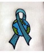 Ovarian Cancer Teal Ribbon World White Hoodie Sweatshirt Small Unisex New - $31.01