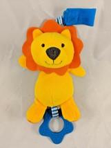 Carter's Child of Mine Orange Lion Rattle Plush Teether Stuffed Animal toy - $6.95