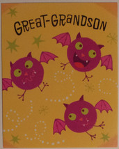 "Greeting Halloween Card ""Great-Grandson"" - $1.50"