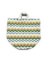 """Heritage Lace Large Nantucket Canvas Tote Bag Zig Zag Pattern 16×16×19"""" ... - $16.65"""