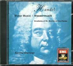 HANDEL WATER MUSIC BY SIR NEVILLE MARRINER... C D - $3.00