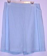 TARA  VANESSA  * SKORT * SIZE L - 100% COTTON - LIGHT BLUE/WHITE STRIPES - $7.99