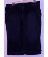 GLORIA  VANDERBILT  * JEANS * BLUE  DENIM - 12 - BOTTONS DECORATION BOTT... - $7.99