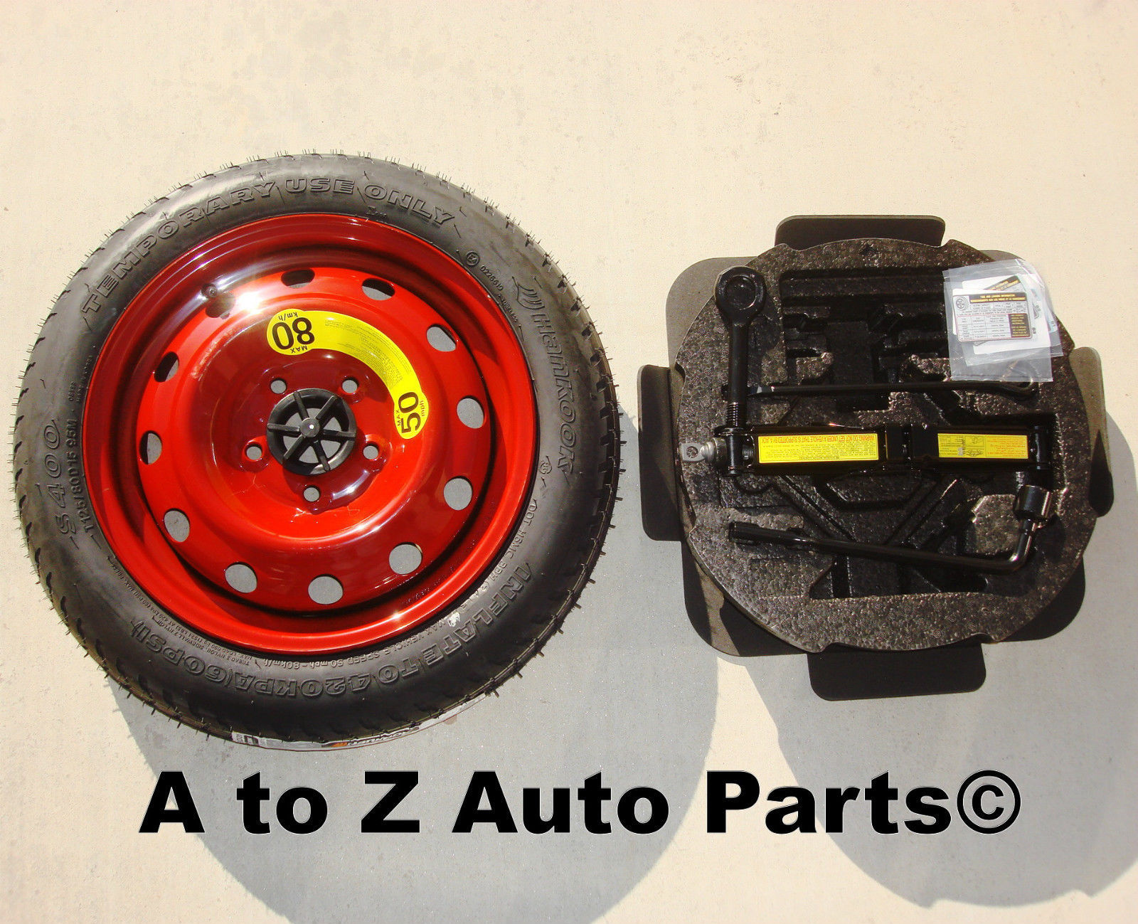OEM Includes Tire Mounted To Rim Elantra Spare Tire Kit