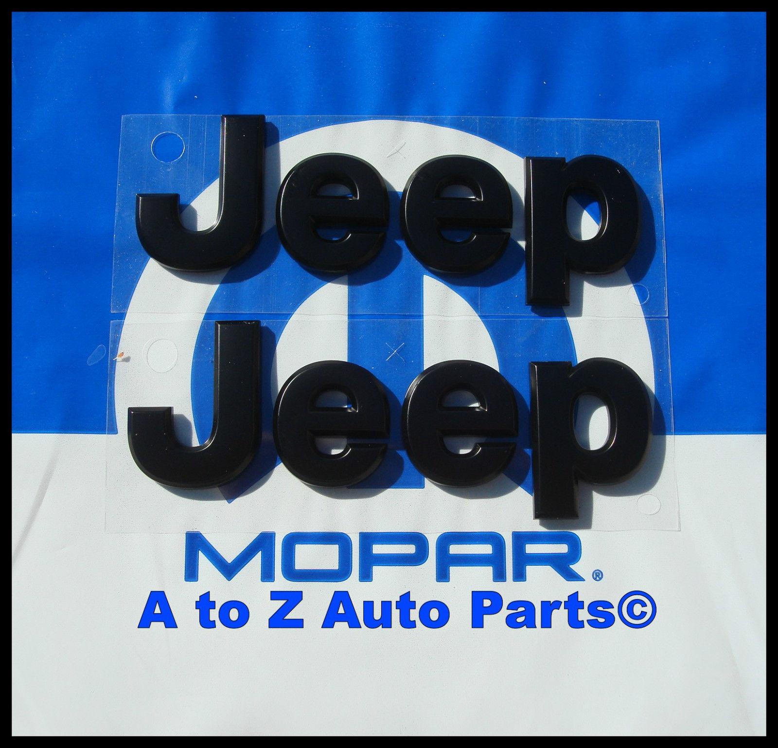 2x OEM Grand Cherokee Emblems Nameplate Jeep Badge l High Quality Chrome