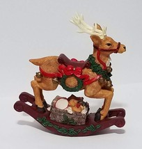 "Windsor Collection Vintage 10"" Rocking Reindeer Music Box 'Jingle Bells'... - $33.85"