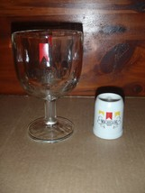 Vintage Michelob Beer Glass Thumb Print Dimple Goblet + Mini Stein - $18.69