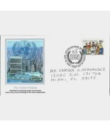 UNITED  NATIONS  # 466  * PEOPLES  OF  THE  WORLD *  FIRST DAY COVER - $2.99