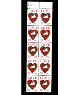U. S.  #   2814  * L O V E *  BOOKLET PANE OF 10 STAMPS  M.N.H. - $6.99