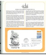 U. S. *WORLD COLUMBIAN STAMP EXPO' 92*  FIRST DAY COVER - ON POSTAL SOCI... - $2.99