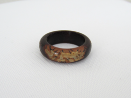 Vintage 1970s Wood Band Ring Size 5.75 - €10,22 EUR
