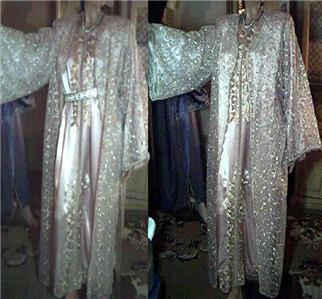 SILK FORMAL BRIDAL KIMONO CAFTAN DUSTER MAXI BALL GOWN DRESS KAFTAN PARTY ABAYA
