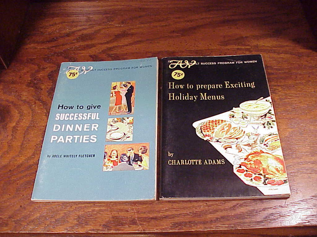 Primary image for Lot of 2 Amy Vanderbilt Success Program For Woman Softcover Books Dinner Parties
