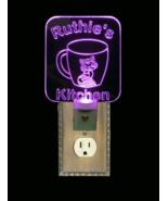 Personalized Coffee Cup Cat, Kitty LED Night Light- Animal, Kitten Night... - $24.00