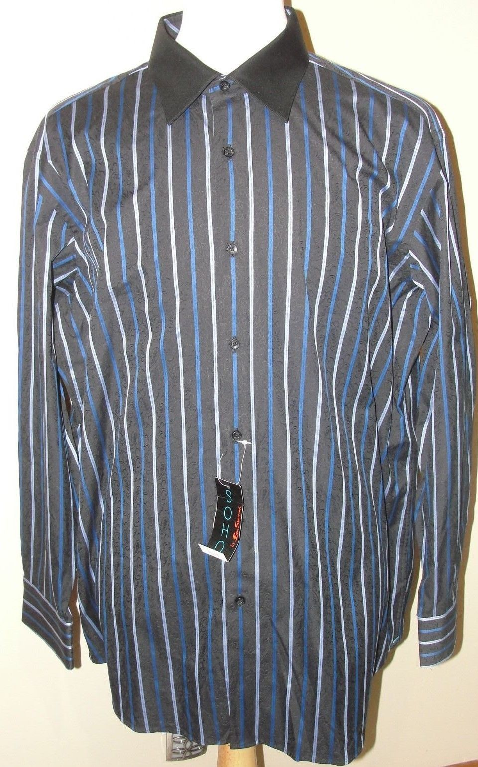 nwt soho by ben sherman designer mens dress shirt size 18