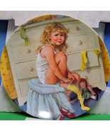 "1985 Collector Plate, John McCelland, ""Getting Dressed"" Original Box & C... - $9.95"