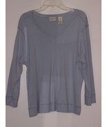 COVINGTON  *T-SHIRT* SIZE XL/18 - LIGHT BLUE-V NECK-100% COTTON - LONG S... - $5.99