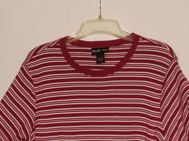 STYLE & CO *T-SHIRT* SIZE XL - RED & WHITE STRIPES - 100% COTTON - SHORT... - $5.99