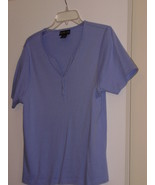 STYLE & CO  * T-SHIRT * SIZE XL - LIGHT BLUE - 100% COTTON - SHORT SLEEVES - $5.99