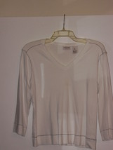 COVINGTON  *T-SHIRT* SIZE XL/18 - WHITE, BLACK STITCH-100% COTTON - LONG... - $5.99