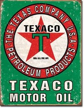 Texaco Motor Oil Metal Tin Sign Nostalgic Retro... - $21.95