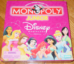 Monopoly Junior Disney Princess Edition Game 2004 Hasbro Parker Brothers Complet - $15.00