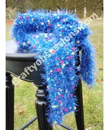 Soft and Cozy Brilliant Blue Eyelash Scarf  - $13.95