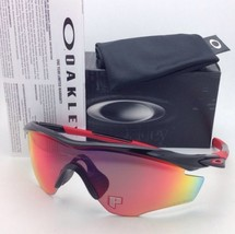 New OAKLEY POLARIZED Sunglasses M2 FRAME OO9212-06 Black with Red Iridium Lenses