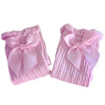 Baby Socks Lovely Bow Cotton Summer Infant Stocking 1-4 Years Old(Pink)