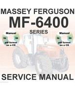Massey Ferguson Tractors MF6495 MF6497 MF6499 6445 6455 6460 Shop Servic... - $29.95