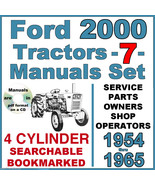 Ford 2000 Tractor SERVICE, PARTS & OWNERS -7- Manuals 1954-1965 = SEARCH... - $29.95