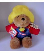 "Vtg. Sears Craftsman PADDINGTON Bear w/ Denim Bib & Hammer 15"" - $42.09"