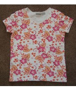 BASIC EDITIONS  spring colors Stretchy short sleeve Top with lace trim  ... - $2.99