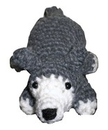 Small Gray and White Stuffed Amigurumi Wolf, Plush Crocheted - $12.50