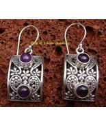 Delicate Amethyst Sterling Silver Earrings ER-590-DG - $29.26