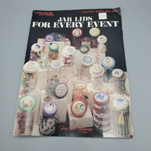 Jar Lids For Every Event Cross Stitch Leisure Arts Leaflet 682 1988 VTG Charts - $4.94