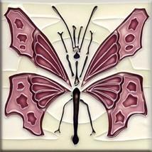 Decorative Ceramic tile 4.25 X 4.25 inch, Illustration Vintage art nouve... - $7.50