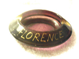 Vintage Florence Italy Hotel Majestic Purple Amethyst Glass Ashtray Gold... - $15.00