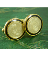 Black Tuxedo Cuff links Classy enamel  wedding Cufflinks  Fine jewelry gold form - $70.00