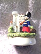 """Vintage Schmid Hand Painted Porcelain Music Box Plays """"London Bridge is Falling  - $30.00"""