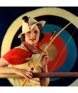 Beautiful, Color Art Deco Archer Woman Print-Ch... - $8.95