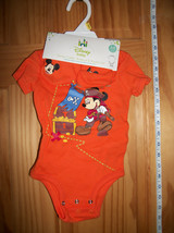 Disney Mickey Baby Clothes 3M-6M Pirate Mouse Creeper Set Newborn Bootie... - $16.14