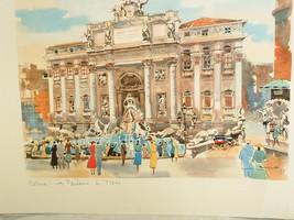 12 X16 ROMA TREVI FOUNTAIN Roma Print - $27.43