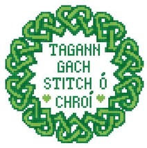 Tagann Gach Stitch O Croi:Gaelic Celtic cross stitch Stitchers Anon Designs - $6.00
