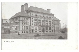 York PA High School Vintage L B Herr UDB Postcard - $4.99