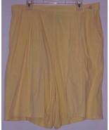 CHARTER  CLUB  * SHORTS *  YELLOW - SIZE L -  MADE IN USA - TENCELL / CO... - $5.99