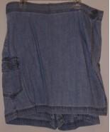 """BILL BLASS  * SHORTS / SKIRT COMBO*  """"14"""" - BLUE DENIM  - 100 % COTTON - $6.99"""